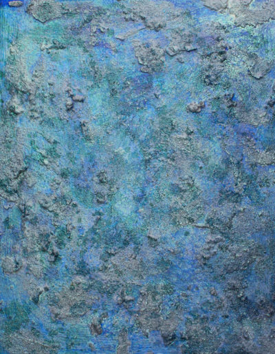 "azure I ,20"" x 24"", mixed media on panel, sold"