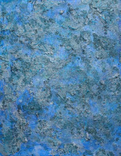 """azure II ,20"""" x 24"""", mixed media on panel, sold"""