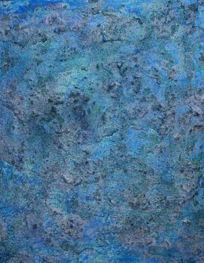 """azure III ,20"""" x 24"""", mixed media on panel, sold"""